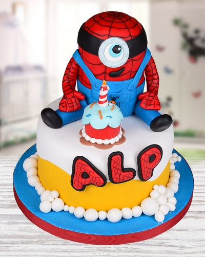 Minion Spiderman Doğum Günü Pastası