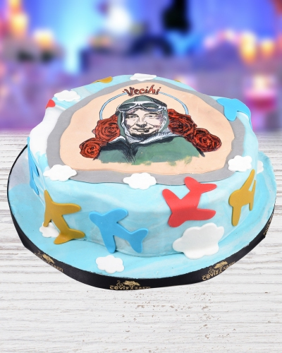 Vecihi Portre Doğum Günü Pastası