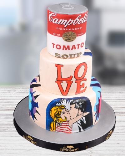Campbell's Soup Cans Doğum Günü Pastası